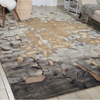 Prismatic Hand-Tufted Beige/Silver Area Rug