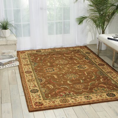 Crownover Khaki Area Rug Rug Size: Rectangle 56 x 83
