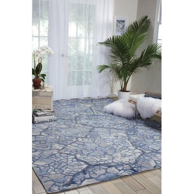 Limerick Hand-Knotted Blue Area Rug Rug Size: Rectangle 56 x 75
