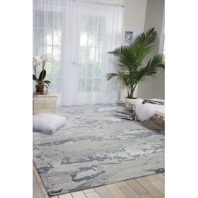 Limerick Modern Hand-knotted Beige Area Rug Rug Size: Rectangle 79 x 99