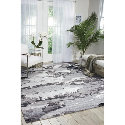 Limerick Hand-Woven Gray Area Rug Rug Size: Rectangle 56 x 75