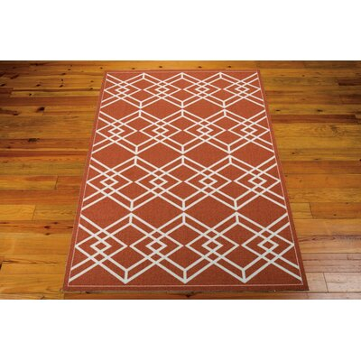 Felty Paprika Area Rug Rug Size: 5 x 7