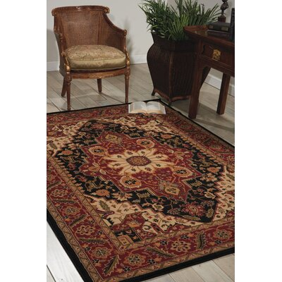 Lukeson Black Area Rug Rug Size: Rectangle 311 x 510