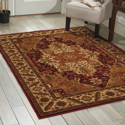 Lukeson Red/Brown Area Rug Rug Size: Rectangle 710 x 106