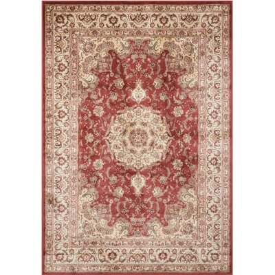 Merrionette Burgundy Area Rug Rug Size: Rectangle 93 x 129