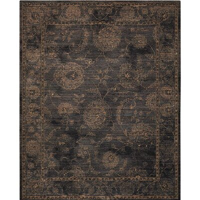 Mahaffey Black Area Rug Rug Size: Rectangle 12 x 15