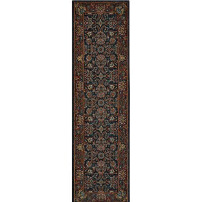 Amias Navy Area Rug Rug Size: Runner 2'3