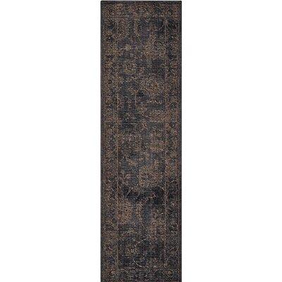 Mahaffey Black Area Rug Rug Size: Runner 23 x 8