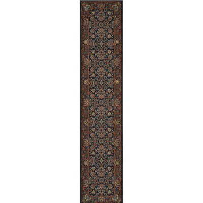 Amias Navy Area Rug Rug Size: Runner 23 x 11