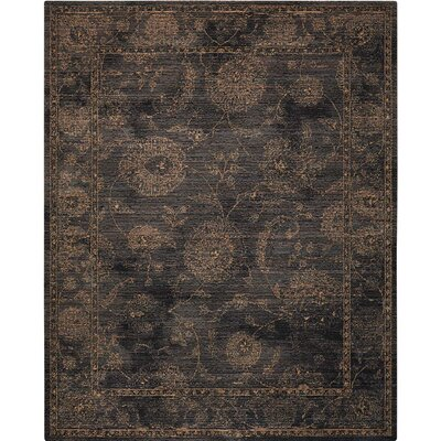 Mahaffey Black Area Rug Rug Size: Rectangle 4 x 6