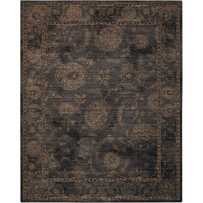 Mahaffey Black Area Rug Rug Size: Rectangle 66 x 95