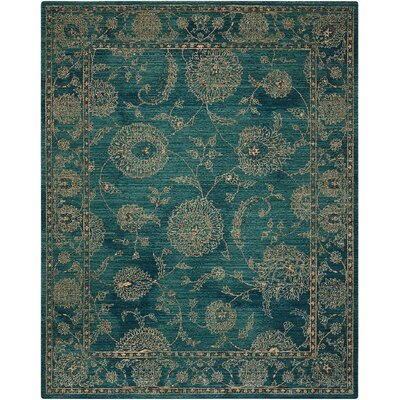 Mailus Blue Area Rug Rug Size: Rectangle 53 x 75