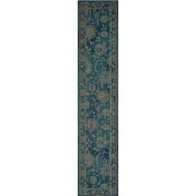 Mailus Blue Area Rug Rug Size: Runner 23 x 11