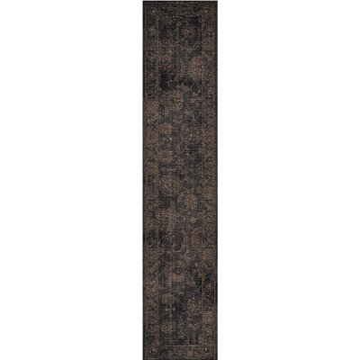 Black Area Rug Rug Size: Runner 23 x 11