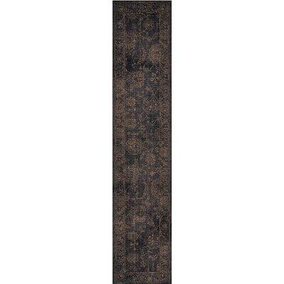 Mahaffey Black Area Rug Rug Size: Runner 23 x 11
