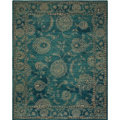 Mailus Blue Area Rug Rug Size: Rectangle 9'2