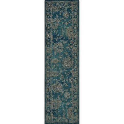 Mailus Blue Area Rug Rug Size: Runner 23 x 8