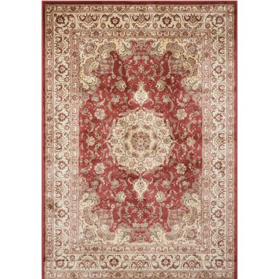 Merrionette Burgundy Area Rug Rug Size: Rectangle 39 x 59