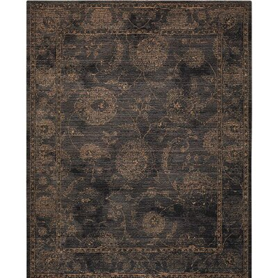 Mahaffey Black Area Rug Rug Size: Rectangle 92 x 125