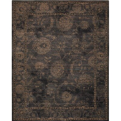 Mahaffey Black Area Rug Rug Size: Rectangle 53 x 75
