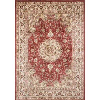 Merrionette Burgundy Area Rug Rug Size: Rectangle 53 x 74