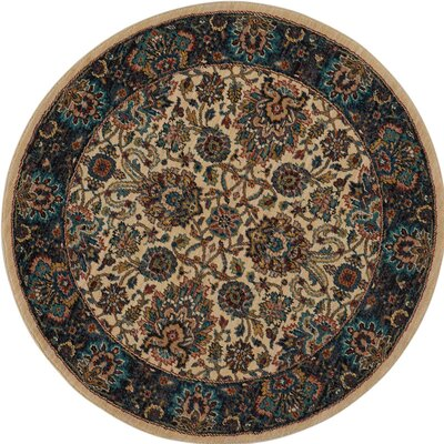 Madrid Brown Area Rug Rug Size: Round 5