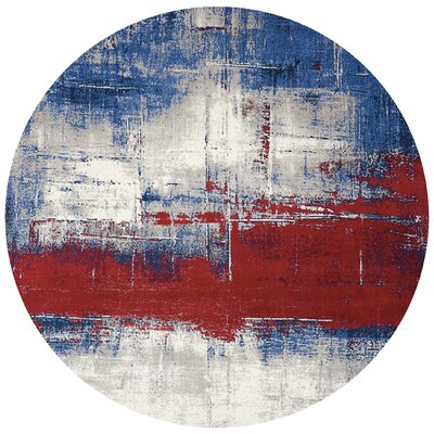 Twilight Blue/Red Area Rug