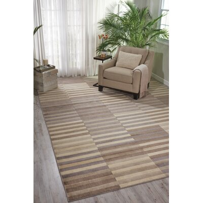Utopia Brown/Gray Area Rug Rug Size: 53 x 75