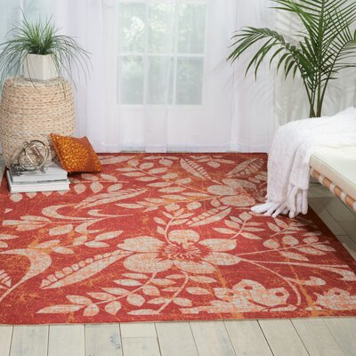 Coastal Red Indoor/Outdoor Area Rug Rug Size: 79 x 1010