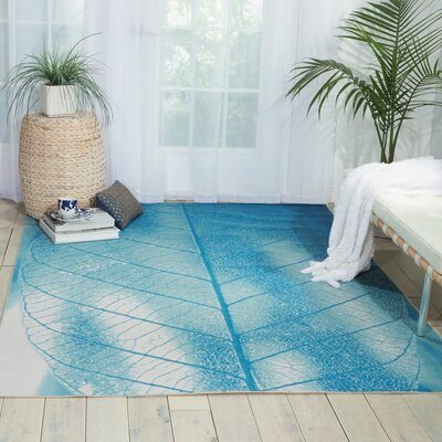 Coastal Aqua Indoor/Outdoor Area Rug Rug Size: 10 x 13