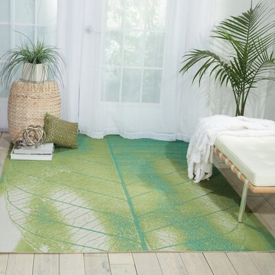 Coastal Green Indoor/Outdoor Area Rug Rug Size: 10 x 13