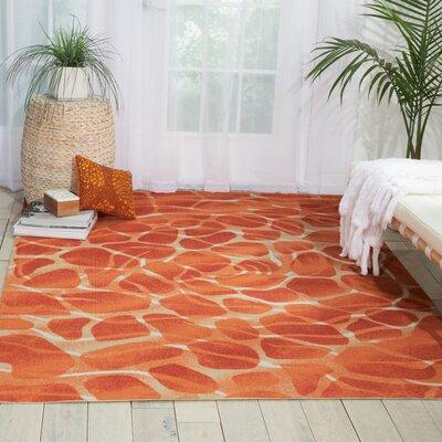 Coastal Orange Indoor/Outdoor Area Rug Rug Size: 79 x 1010