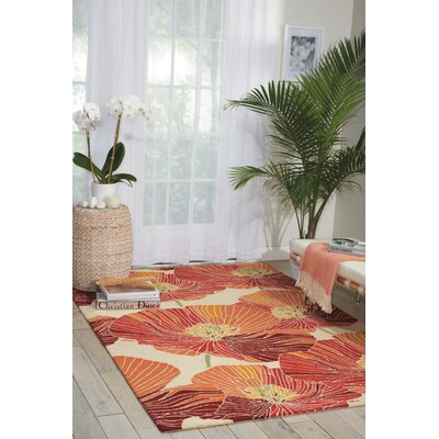 Aubuchon Hand-Hooked Sunset Area Rug Rug Size: Rectangle 5 x 76