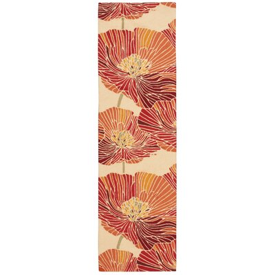 Fantasy Hand-Hooked Sunset Area Rug Rug Size: Runner 23 x 8