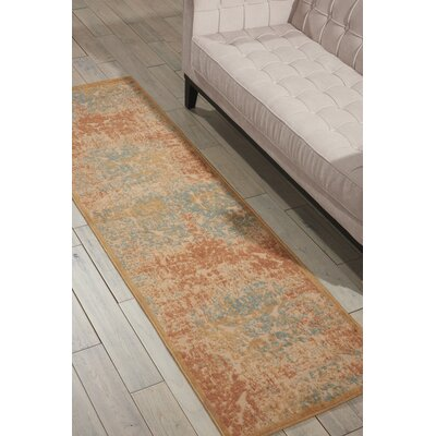 Sacramento Light Gold Area Rug Rug Size: Runner 23 x 8
