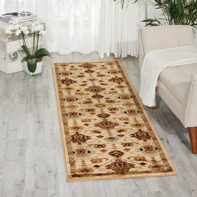 Manorville Ivory Area Rug Rug Size: Runner 22 x 76