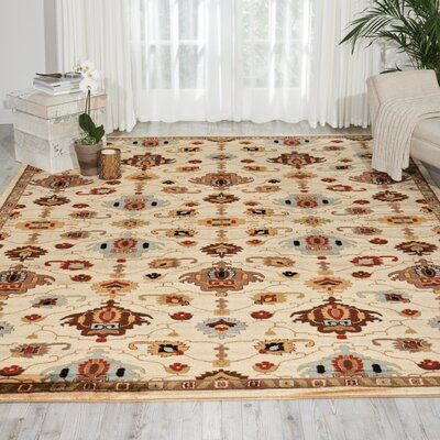 Manorville Ivory Area Rug Rug Size: Rectangle 67 x 96