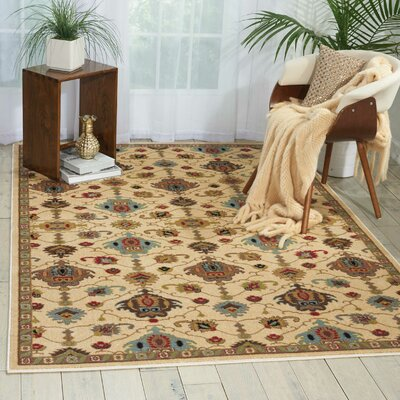 Manorville Ivory Area Rug Rug Size: Rectangle 53 x 73
