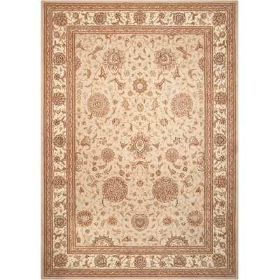 Lyndora Hand Woven Wool Sand Indoor Area Rug Rug Size: Rectangle 99 x 139