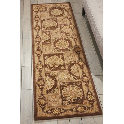 Area Hand-Tufted Brown Area Rug Rug Size: 99 x 139