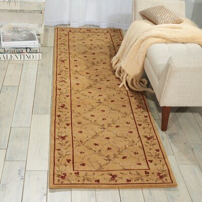 Fairchild Gold Area Rug Rug Size: Runner 23 x 8