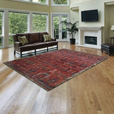 Mercado Hand-Knotted Pomegranate Area Rug Rug Size: 86 x 116