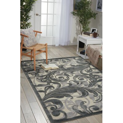 Illusions Gray Area Rug Rug Size: 53 x 75