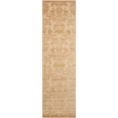 Riffe Light Gold Area Rug Rug Size: Runner 23 x 8