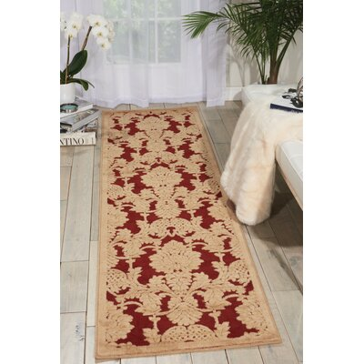 Riffe Red Area Rug Rug Size: Rectangle 53 x 75