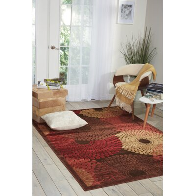 Illusions Brown Area Rug Rug Size: 53 x 75