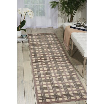 Illusions Ivory/Brown Area Rug Rug Size: 23 x 39