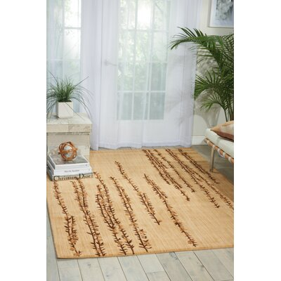 Radiant Impressions Hand-Woven Wool Beige Indoor Area Rug Rug Size: 2 x 3