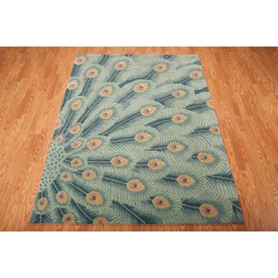 Downing Hand-Tufted Peacock Area Rug Rug Size: Rectangle 8 x 11