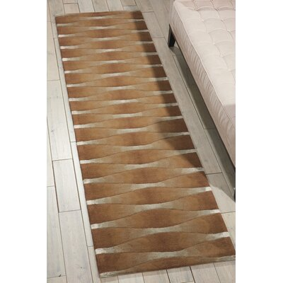 Anacari Hand-Tufted Khaki Area Rug Rug Size: 36 x 56